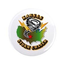 "Storm Chaser - Kansas 3.5"" Button (100 pack)"