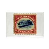 Rare Inverted Jenny Stamp Rectangle Magnet (100 pa