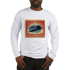 Rare Inverted Jenny Stamp Long Sleeve T-Shirt