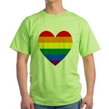 Gay Pride Flag Heart Valentine T-Shirt