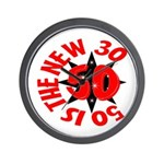 50 Is The New 30 Wall Clock