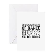 Rumba dance designs Greeting Card