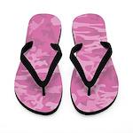 Pink Camouflage Flip Flops