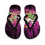 Tropical Grunge Flip Flops