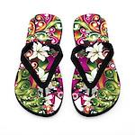 Purple Tropical Flip Flops