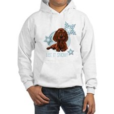 Let it Snow Irish Setter Hoodie