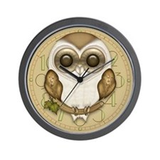 Cute Barn Owl Wall Clock