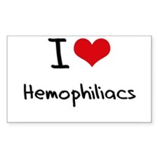 I Love Hemophiliacs Decal