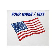 Custom American Flag Throw Blanket