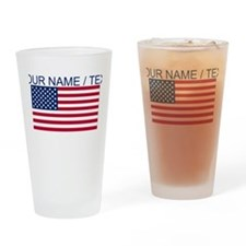 Custom American Flag Drinking Glass