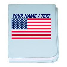 Custom American Flag baby blanket