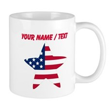 Custom American Flag Star Mug