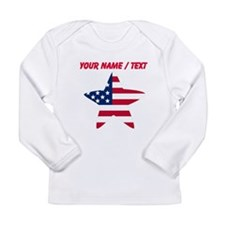 Custom American Flag Star Long Sleeve T-Shirt