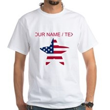 Custom American Flag Star T-Shirt