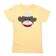 Sock Monkey Face Girl's Tee