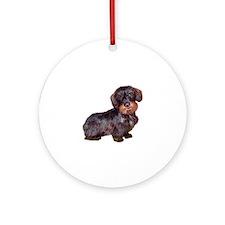 Wire Haired Dachshund (#1)q Ornament (Round)