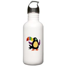 Artistic Colorful Toucan Bird Water Bottle