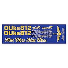 Blue Ukes Bumper Bumper Sticker