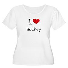 I Love Hockey Plus Size T-Shirt