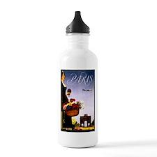 Vintage Paris France Travel Water Bottle