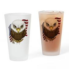 Cute Bald Eagle Drinking Glass