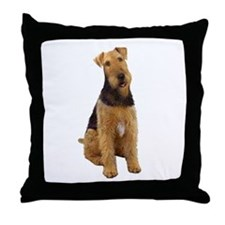 Airedale #1 - sit Throw Pillow