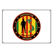 Vietnam War Veteran - This Well Defend Patch Banne