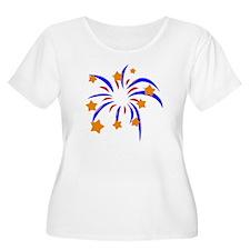 Fireworks Plus Size T-Shirt