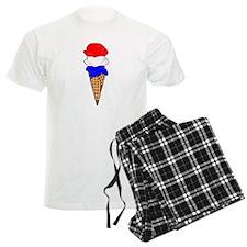 Red White and Blue Ice Cream Pajamas