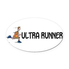 Unique Marathon man Oval Car Magnet