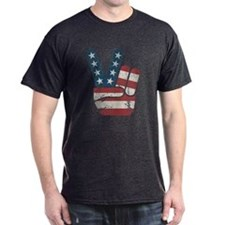 Peace Sign USA Vintage T-Shirt