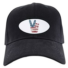 Peace Sign USA Vintage Baseball Hat