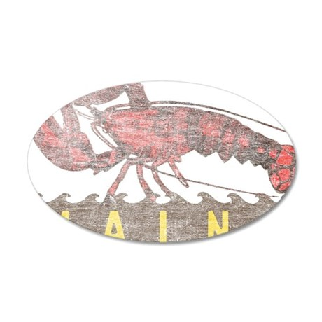 Vintage Maine Lobster 35x21 Oval Wall Decal