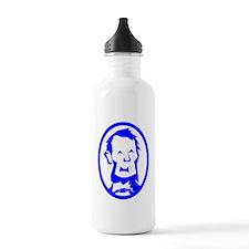 Blue Abraham Lincoln Portrait Water Bottle