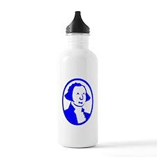 Blue George Washington Portrait Water Bottle