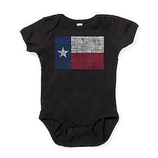 Distressed Texas Flag Baby Bodysuit