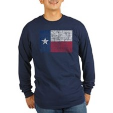 Distressed Texas Flag Long Sleeve T-Shirt