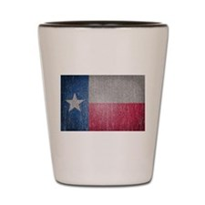 Texas Flag Faded Shot Glass