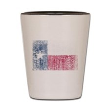 Beaten Texas Flag Shot Glass