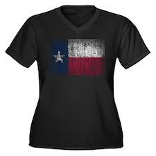 Beaten Texas Flag Plus Size T-Shirt