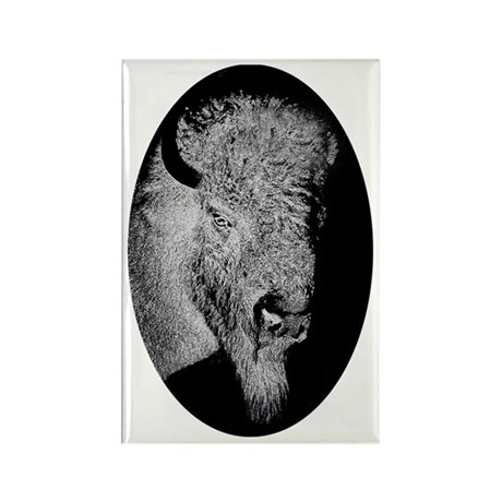 Midnight Buffalo Rectangle Magnet