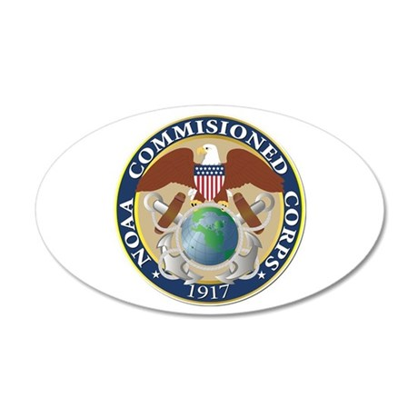 NOAA - Commissioned Corps 20x12 Oval Wall Decal