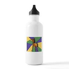 Colorful Horse Folk Art Water Bottle