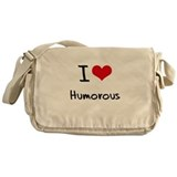 I Love Humorous Messenger Bag