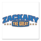 "The Great Zackary Square Car Magnet 3"" x 3"""