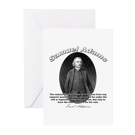 Samuel Adams 02 Greeting Cards (Pk of 10)