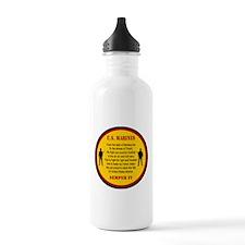 Marine Hymn Patch Water Bottle