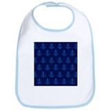 'Navy Anchors' Bib