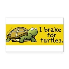 Cute Turtle Rectangle Car Magnet