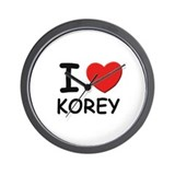 I love Korey Wall Clock